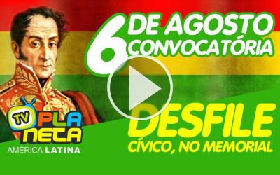 Convocatória geral para o desfile cívico de 6 de agosto, no Memorial da América Latina