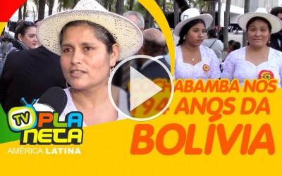 SABINA, ativista cultural cochabambina nos 194 anos da Bolívia no Memorial