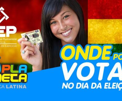 Onde devo votar no dia da Eleição Geral Boliviana 2019, em São Paulo?
