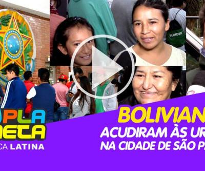 Famílias de imigrantes bolivianos acudiram às urnas na cidade de São Paulo