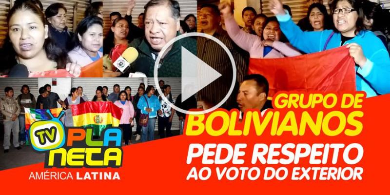 Grupo de bolivianos em São Paulo exigem respeito aos votos do exterior