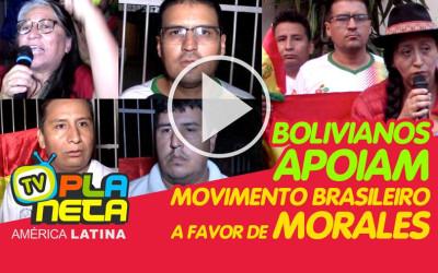 Bolivianos apoiam movimentos sociais brasileiros pró Morales em SP