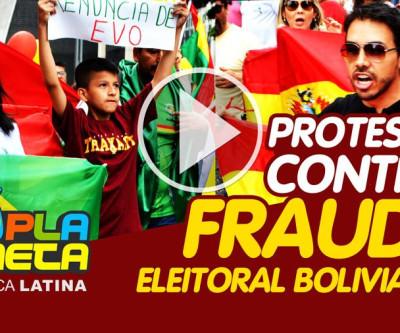 Bolivianos protestam no Brasil, contra Fraude nas Eleições Gerais na Bolívia