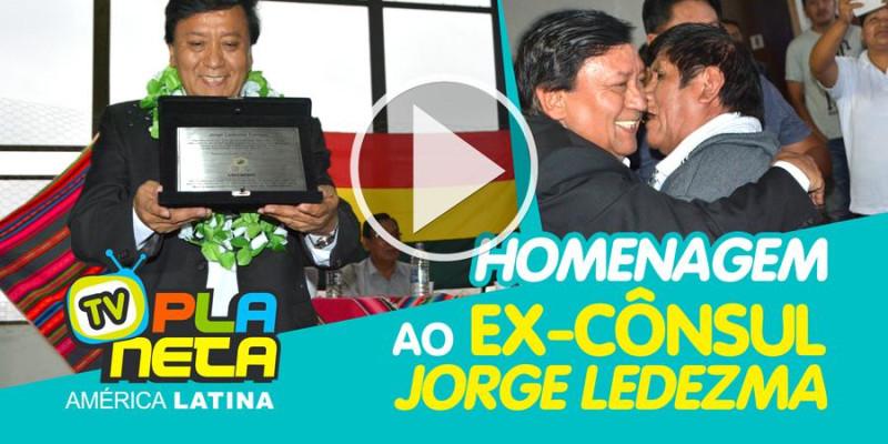 Jorge Ledezma, ex-cônsul boliviano recebe homenagem de despedida em SP