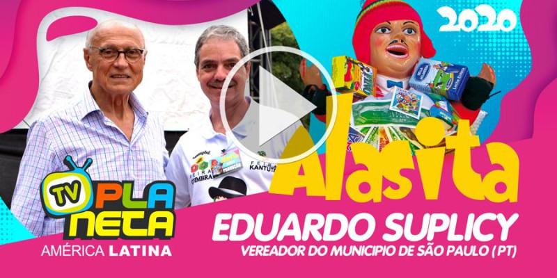 Eduardo Suplicy visitou a festa de ALASITA 2020 no Parque dom Pedro II em SP