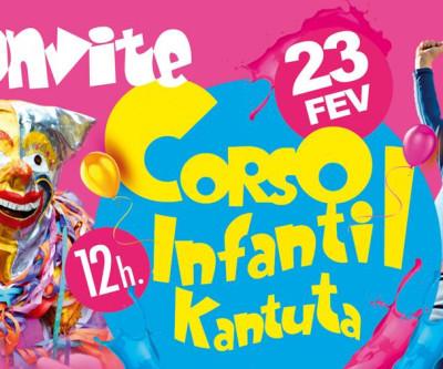 Convite para inscrições do Corso Infantil - Carnaval KANTUTA 2020