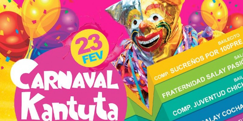 Rol de entrada do Carnaval Kantuta 2020