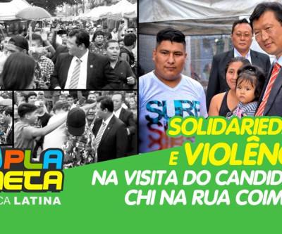 Distúrbios e agressões na Rua Coimbra durante visita do candidato Chi Hyun em São Paulo