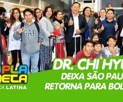 Após três dias em SP, o candidato Dr. Chi Hyun retorna para Bolívia