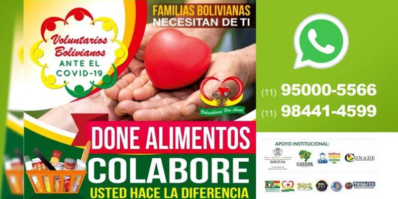 Campanha aceita doações de alimentos para acudir famílias bolivianas em São Paulo