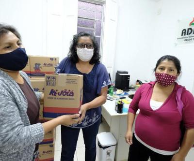 Gestão entre a ADRB e Prefeitura conseguem 400 cestas básicas para famílias nestes tempos de COVID-19