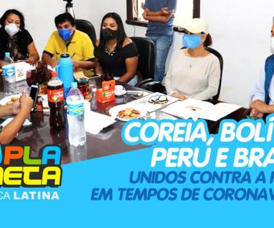 Coreia, Bolívia, Peru e Brasil, unidos pela solidariedade em tempos de COVID-19