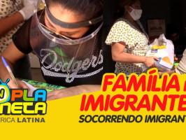 Família de imigrantes bolivianos realiza doação de alimentos no Dia das Mães durante pandemia em SP