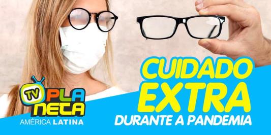 Óculos embaçados, coçar os olhos, todo cuidado e pouco durante a pandemia