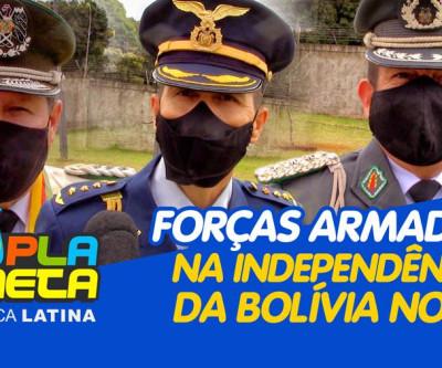 Autoridades militares e policial nos 195 anos da independência da Bolívia em Brasília