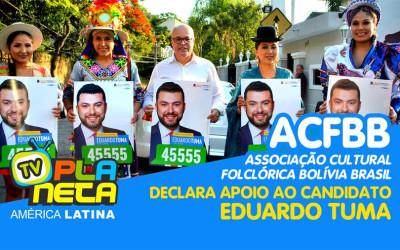 Associação folclórica boliviana oferece apoio ao candidato Eduardo Tuma (PSDB)