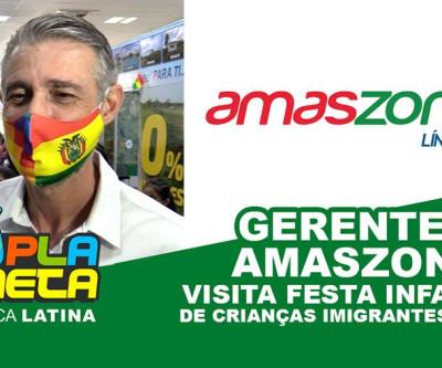Diretor da Línha Aérea AMASZONAS visita festa infantil de imigrantes