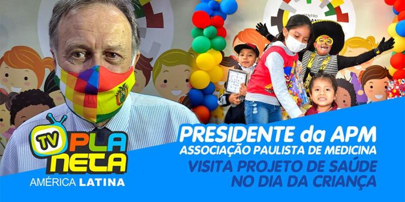 Presidente da APM - Associação Paulista de Medicina visitou projeto de saúde infantil de imigrantes em SP