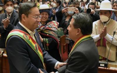 Cerimónia de investidura de Luis Arce como presidente da Bolívia