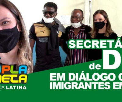 Claudia Carletto, Secretária Municipal de Direitos Humanos realizou encontro com imigrantes.