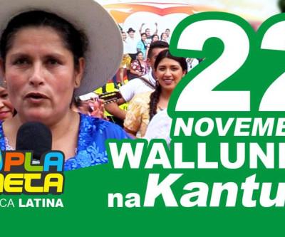 Convite oficial WALLUNKA 2020, Praça Kantuta - domingo 22 de novembro