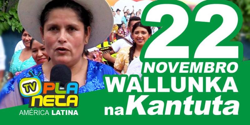 Convite oficial WALLUNKA 2020, Praça Kantuta domingo 22 de novembro