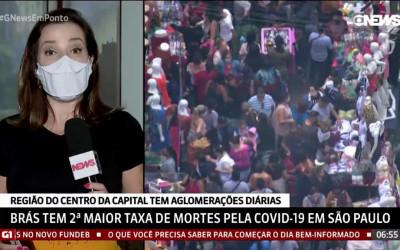 Brás detém a 2ª maior taxa de mortes pela Covid-19 em São Paulo