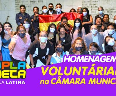 Câmara Municipal homenageou voluntários solidários durante pandemia do COVID-19