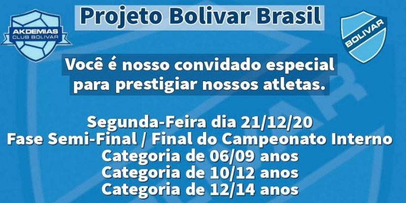 Fase semi-final do Projeto Bolivar Brasil