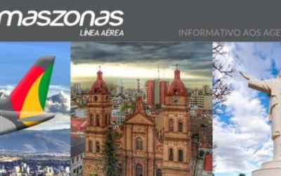 Amaszonas oferece voos diários - SP - Santa Cruz de la Sierra