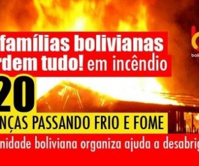 Comunidade boliviana socorre vítimas de incêndio em São Paulo