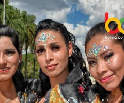 A dança do Caporal 100%  Boliviano no Carnaval Paulistano - Pholia na Luz 2019
