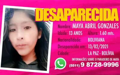 Desaparecida Maya Abril Gonzales