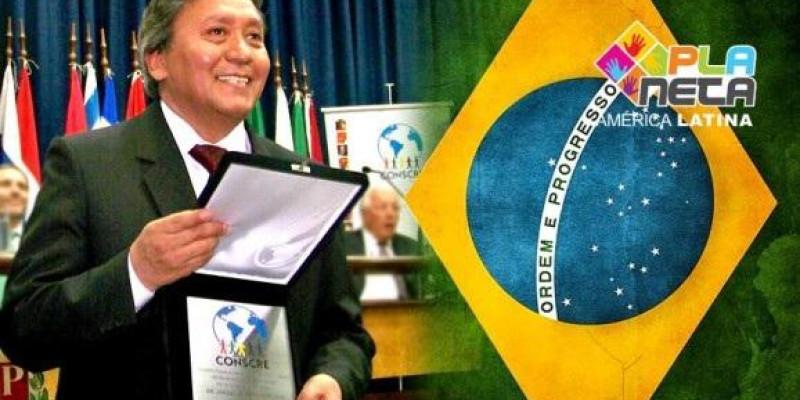 Cônsul geral da Bolívia foi homenageado pelo CONSCRE em SP