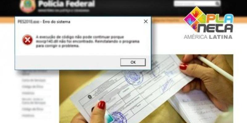Imigrantes que não conseguem agendar atendimento no site da Policia Federal