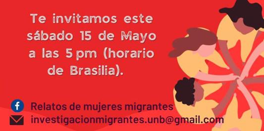 Relatos de mulheres imigrantes - 15 de maio de 2021