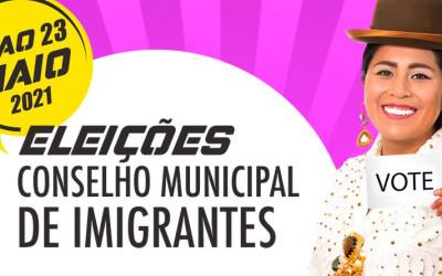 Votação virtual para o Conselho Municipal de Imigrantes começa nesta terça 18/05/21