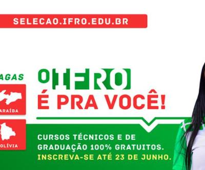 Cursos 100% gratuitos para o 2º semestre no IFRO.
