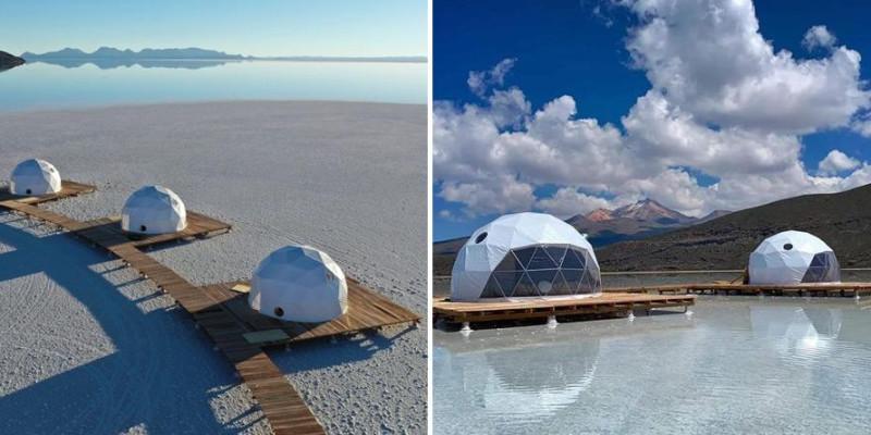 Hotel incrível com cúpulas no Salar de Uyuni
