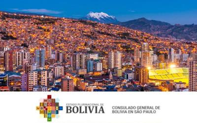 Nota oficial do consulado boliviano em São Paulo comemorando os 212 anos da cidade de La Paz