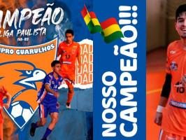 A Wimpro do goleiro boliviano Yerko Mauricio, campeão da Liga Paulista (sub-20) 2021