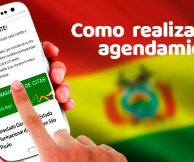 Consulado boliviano em SP, publica vídeo para ajudar a realizar agendamento de serviços consulares