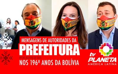 Autoridades da Prefeitura de São Paulo parabenizam a comunidade boliviana pelos 196 anos de independência da Bolívia