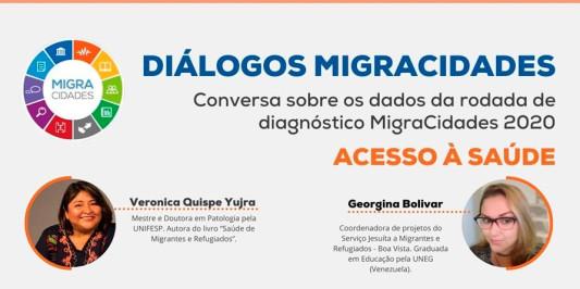 A boliviana Veronica Quispe no Diálogos Migracidades - ACESSO À SAÚDE