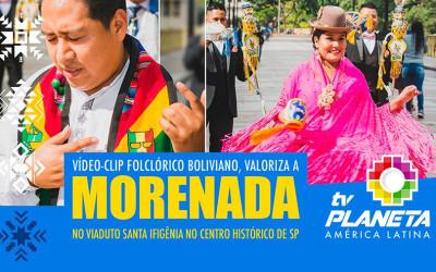 A MORENADA 100% BOLIVIANA no Viaduto Santa Ifigênia em São Paulo