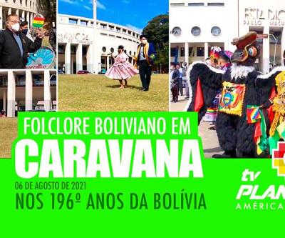 Caravana folclorica nos 169 anos da inependência da Bolívia em São Paulo