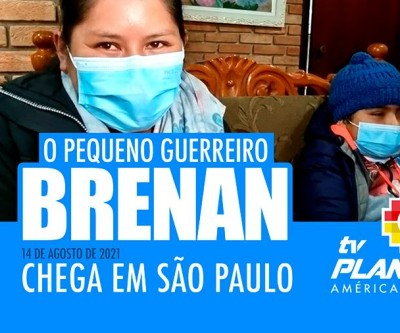 Chega em São Paulo o pequeno Brenan para receber o transplante de medula
