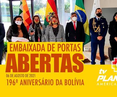 Embaixada boliviana em Brasília recebe delegação de bolivianos no dia da independência da Bolívia