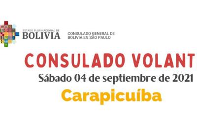 Sábado 4 de setembro consulado boliviano volante em Carapicuíba