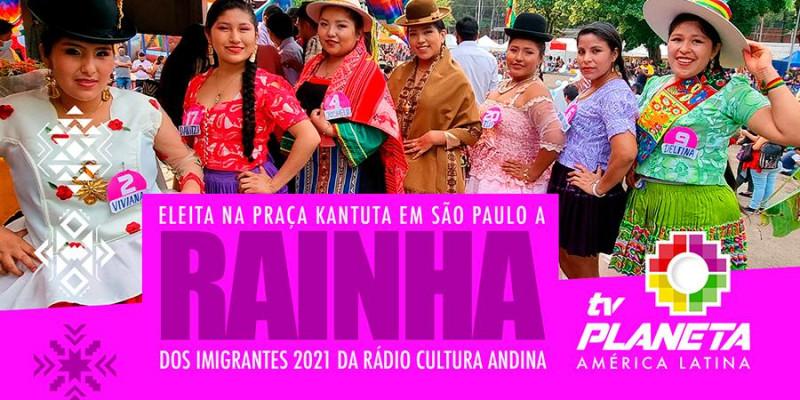Eleita a Rainha dos Imigrantes 2021 da Rádio Cultura Andina em São Paulo